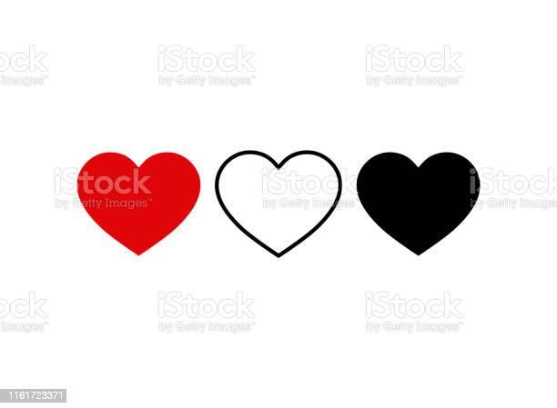 Set Of Heart Icon Live Stream Video Chat Likes Social Media Icon Heart Shapethumbs Up For Social Mediavector Eps10 - Arte vetorial de stock e mais imagens de Amor