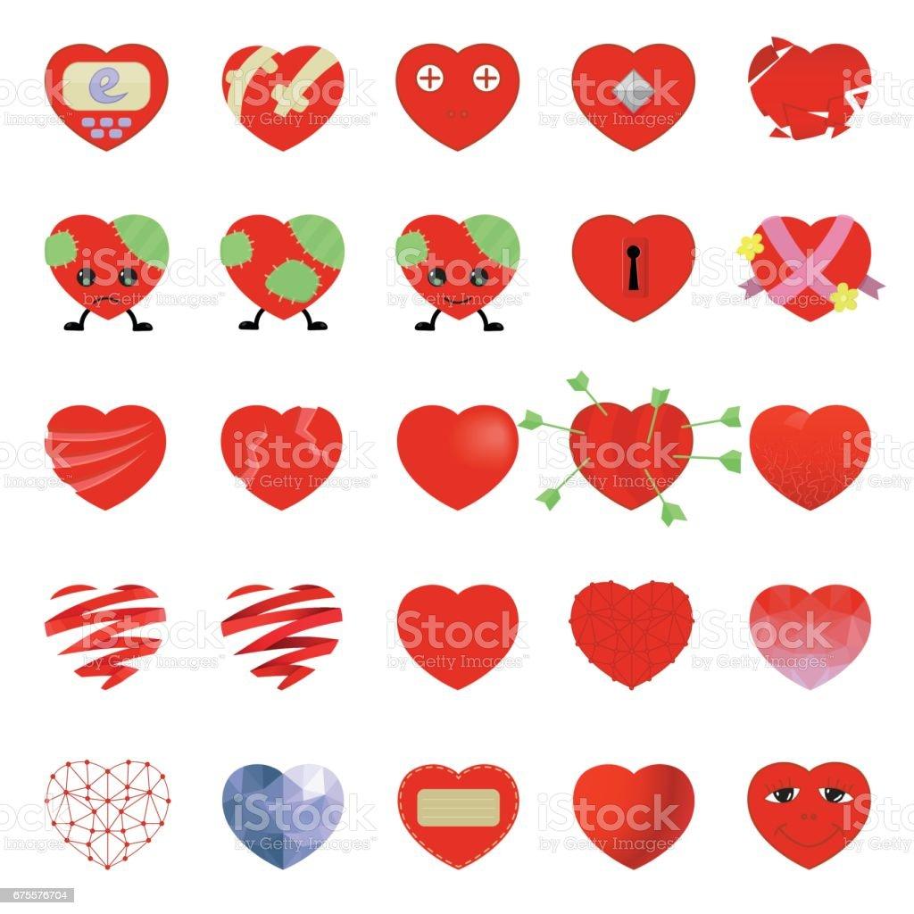 Ensemble de coeur icône vecteur isolé sur fond blanc. Emoji vector. Jeu d'icônes amour sourire. Web d'icône émoticône. ensemble de coeur icône vecteur isolé sur fond blanc emoji vector jeu dicônes amour sourire web dicône émoticône – cliparts vectoriels et plus d'images de amour libre de droits