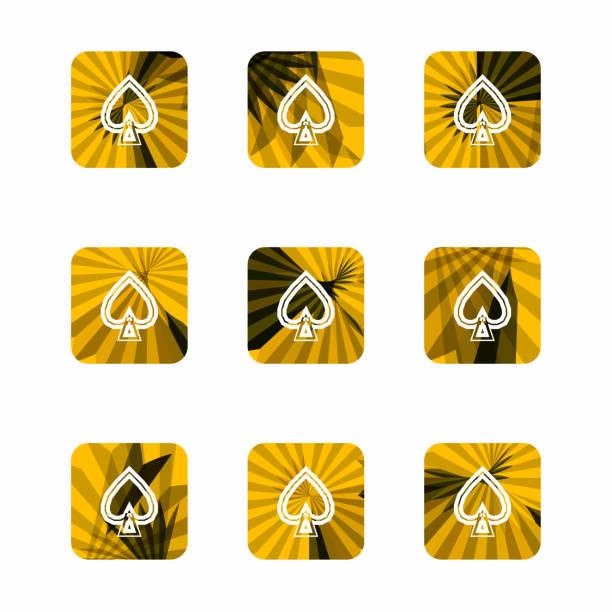 herz-form-schaltflächen - palmenherzen stock-grafiken, -clipart, -cartoons und -symbole