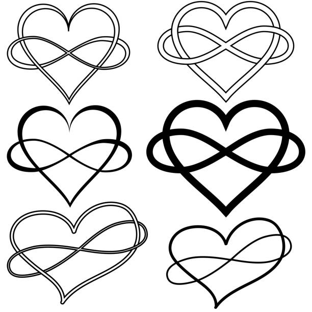 Infinity Symbol With Heart Illustrations, Royalty-Free ...