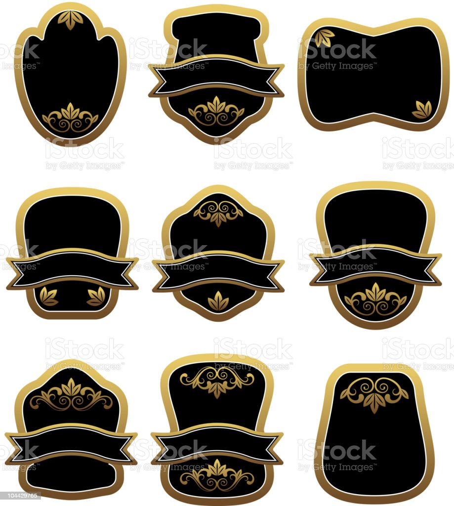 Set of heraldic elements royalty-free set of heraldic elements stock vector art & more images of alcohol