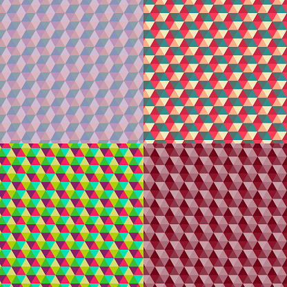 Set of hexagonal patterns
