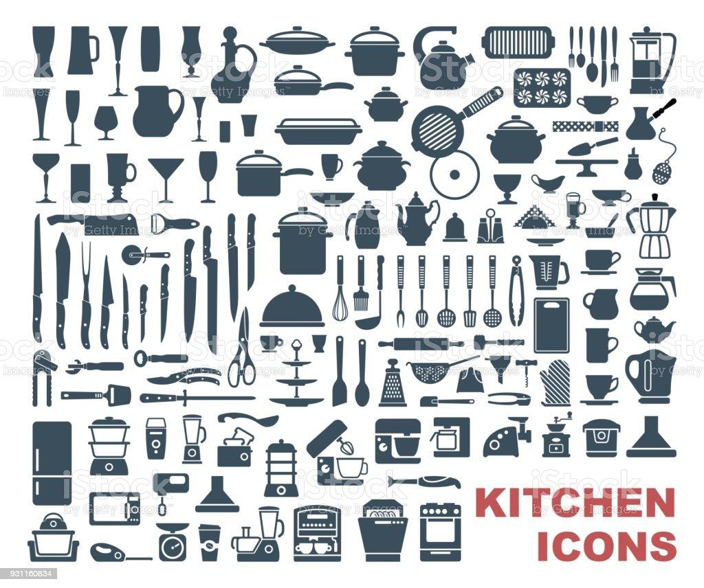 Av högkvalitativa kök ikoner - Royaltyfri Bordskniv vektorgrafik