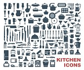 Set of high quality kitchen icons