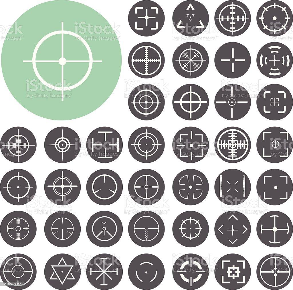 Set of highly detailed crosshairs. Illustration eps10 vector art illustration