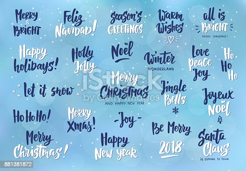 Set of holiday greeting quotes and wishes hand drawn text great for set of holiday greeting quotes and wishes hand drawn text great for cards gift tags and labels photo overlays party posters stock vector art more images m4hsunfo