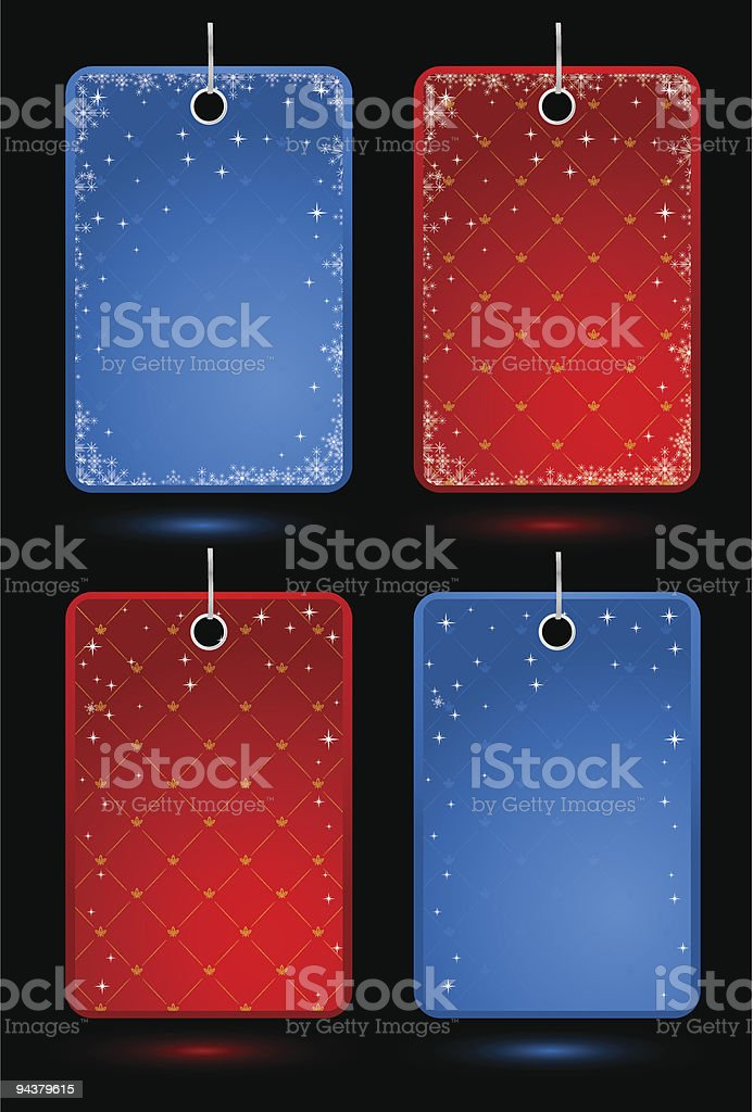 Set of holiday labels royalty-free stock vector art