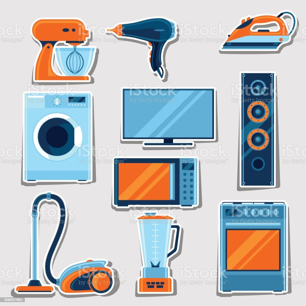 Set Of Home Appliances Household Items For Sale And Shopping ...