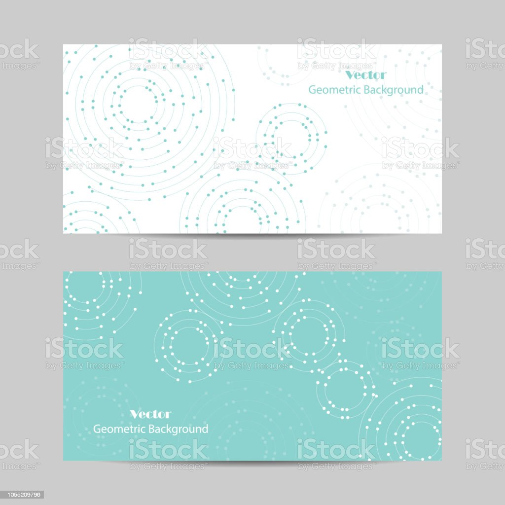 Set of horizontal banners. Geometric pattern with connected lines and dots royalty-free set of horizontal banners geometric pattern with connected lines and dots stock illustration - download image now