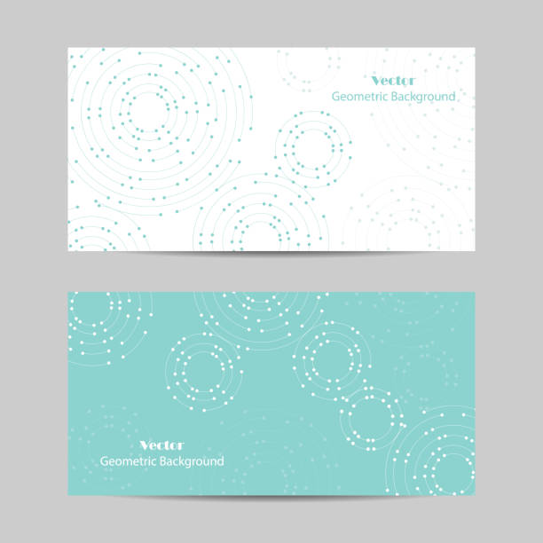 set of horizontal banners. geometric pattern with connected lines and dots - connections abstract stock illustrations