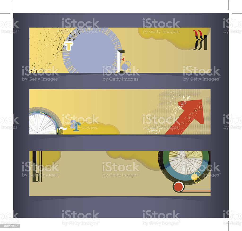 Set of horizontal banners, headers royalty-free set of horizontal banners headers stock vector art & more images of advertisement
