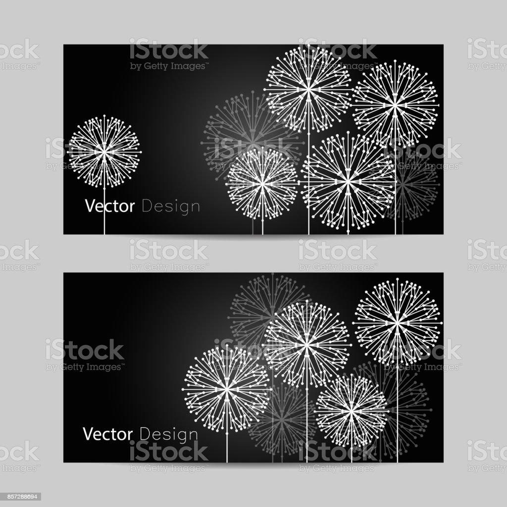 Set of horizontal banners. vector art illustration