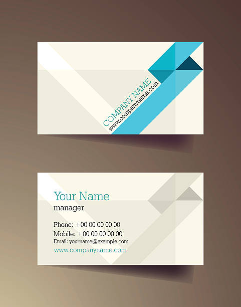 Royalty free construction company business cards backgrounds clip set of horizontal blue elegant abstract business cards vector art illustration colourmoves