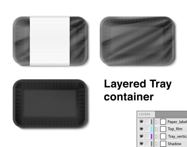 stockillustraties, clipart, cartoons en iconen met het aantal horizontale lade container. - chicken bird in box