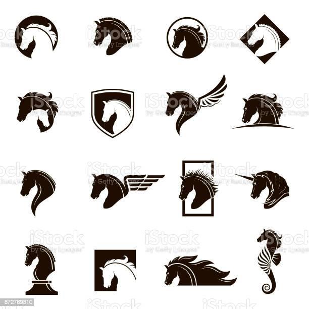 Set of horse icons vector id872769310?b=1&k=6&m=872769310&s=612x612&h=oou5l7zgrqr7yxrpza0gjcmehhcffd55 wganfj7ckq=