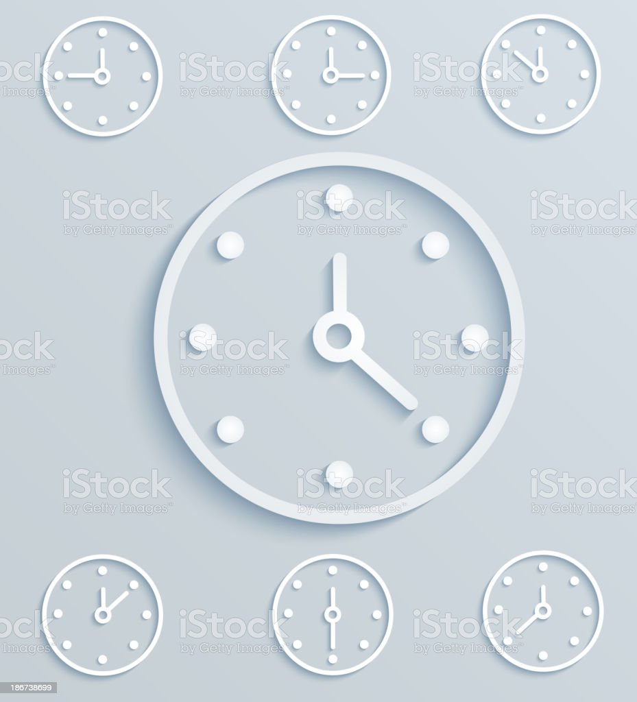 Set of hours royalty-free stock vector art