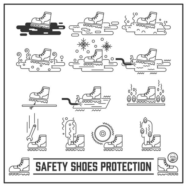 Best Safety Shoes Illustrations, Royalty-Free Vector