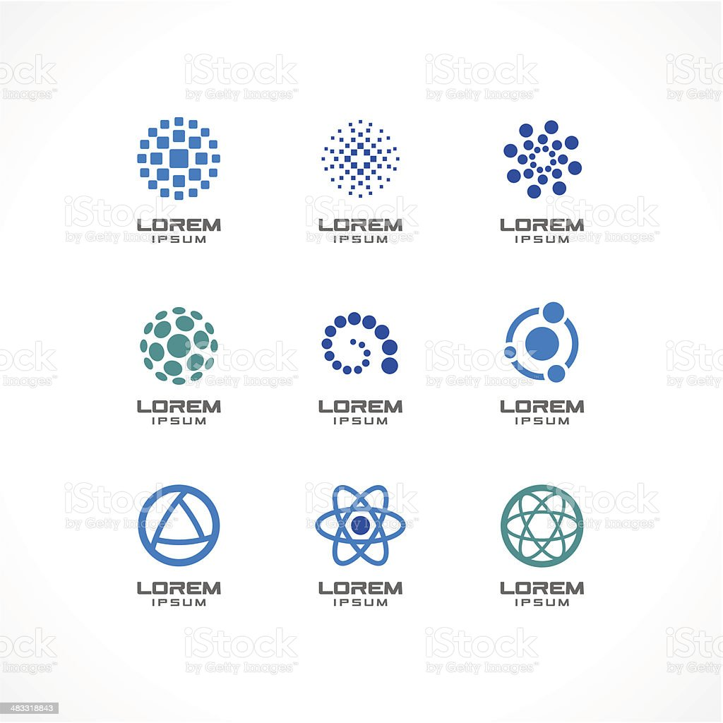 Set of icon design elements. Abstract logo ideas for business vector art illustration