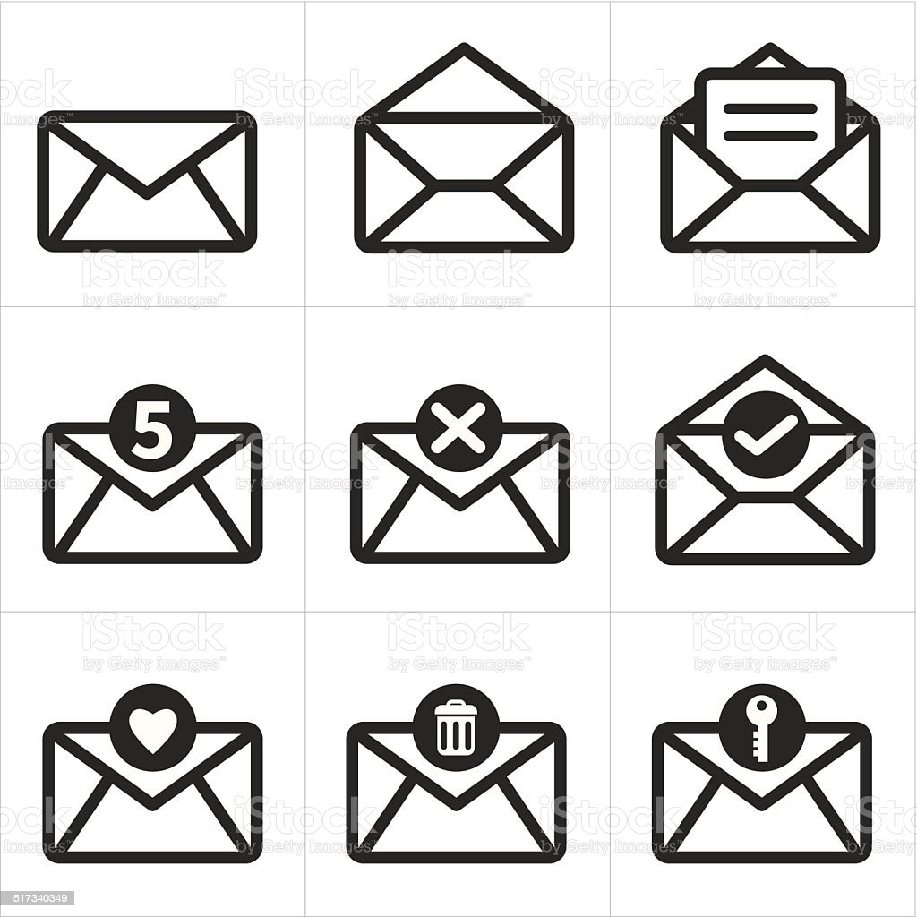 Set of icon for mail. Messages icon vector art illustration