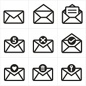 Set of icon for mail. Messages icon