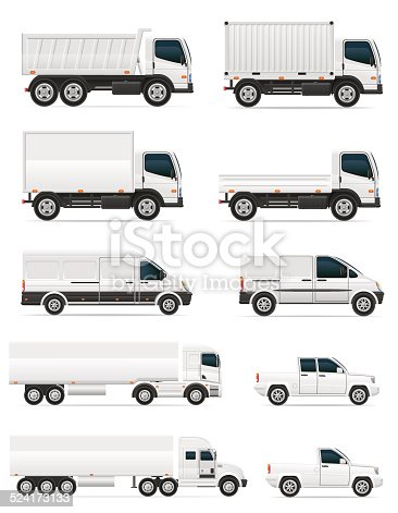 istock set of icons cars and truck for transportation cargo 524173133