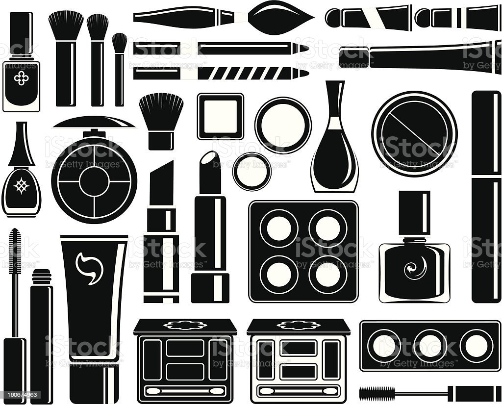 Set of icons cosmetics royalty-free stock vector art