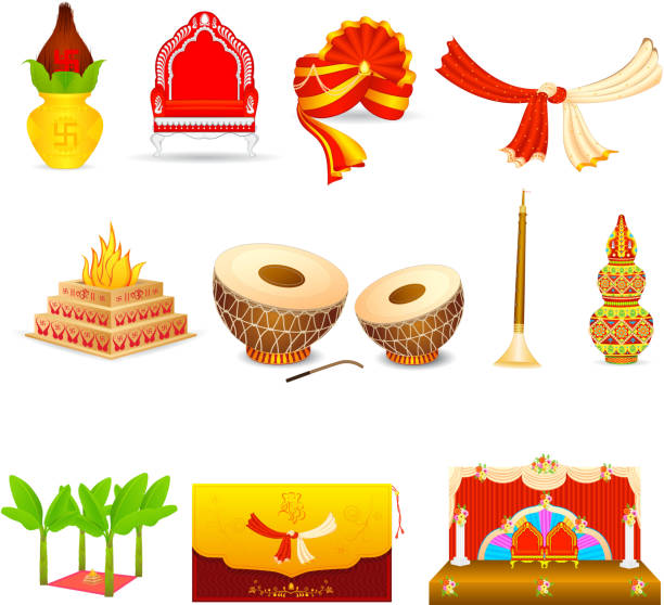 Best Hindu Wedding Illustrations Royalty Free Vector