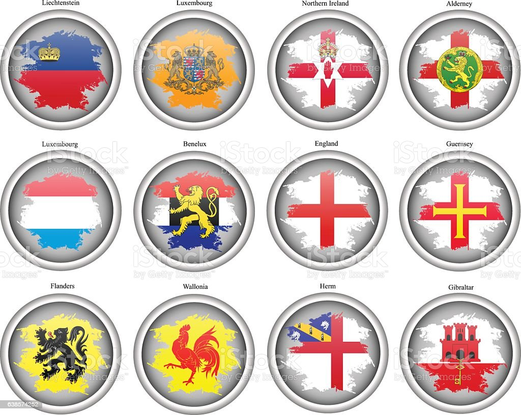 Set of icons. Flags of the Europe.​​vectorkunst illustratie