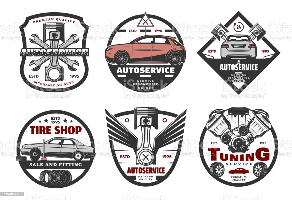 Set of icons for auto service - Royalty-free Adjusting stock vector