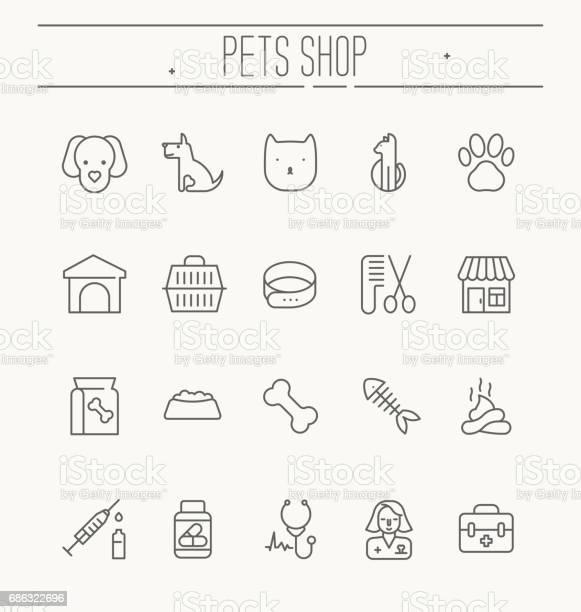 Set of icons for vet clinic pet shop dog training or dog shelter for vector id686322696?b=1&k=6&m=686322696&s=612x612&h=pd8m3s6jgkzcitp3jttzzqcqdvkp3pzm nfozpnjkr0=