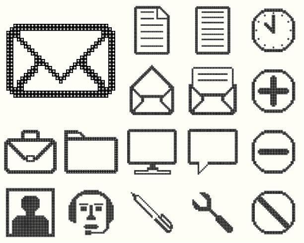 Set of icons for web design. vector art illustration