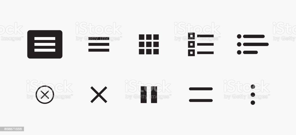 Set Of Icons For Website Menu Navigation Vector Set Of Ui Design