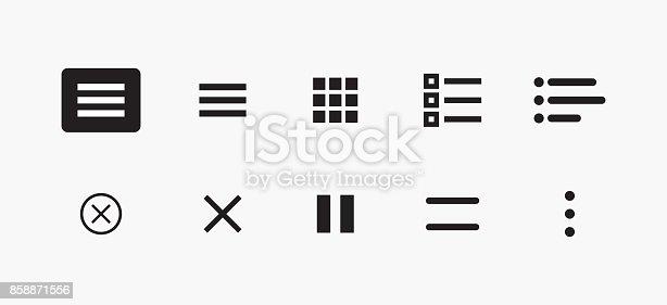 Set Of Icons For Website Menu Navigation Vector Set Of Ui