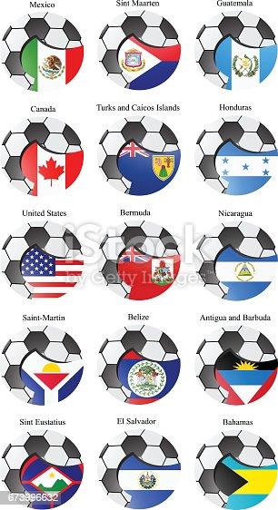 ᐈ Imagen de Conjunto de iconos  Banderas de norte y de