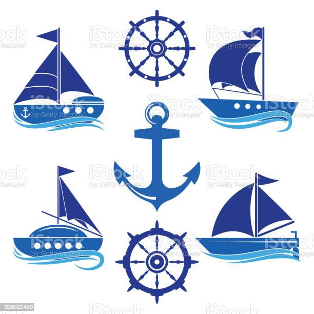 Set of icons of a yacht a helm a sailboat a rope vector id926522460?b=1&k=6&m=926522460&s=612x612&h=h odwmokvw dcirvwmxoa rykpxuet4yv1vxkvhskog=