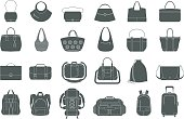Set of icons of bags and luggage
