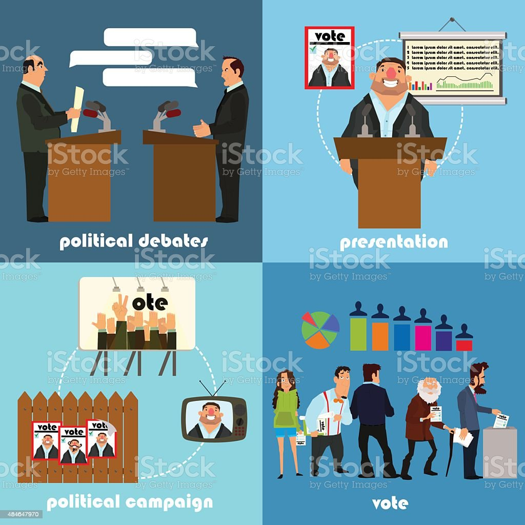 set of icons on a political theme stock vector art more images of