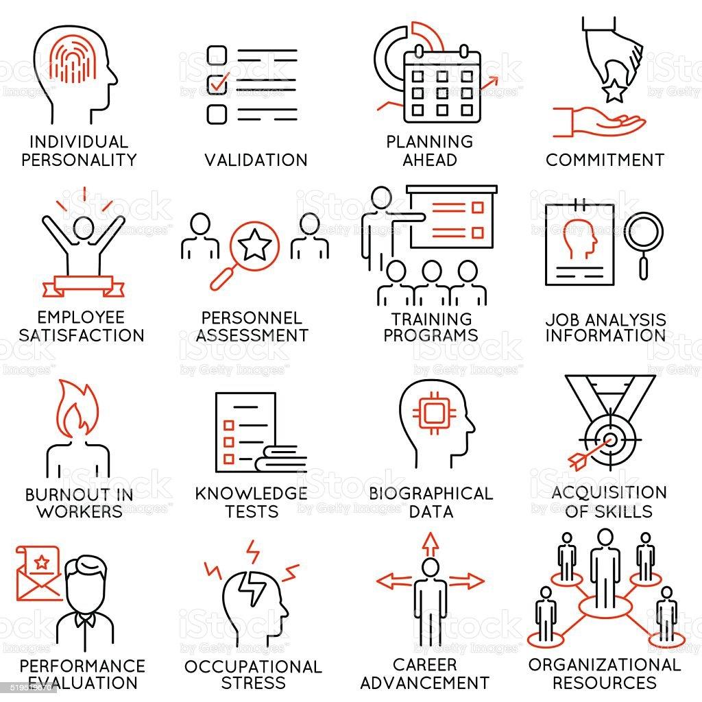 Reihe von icons, die Bezug auf Geschäft management-Teil 48 – Vektorgrafik