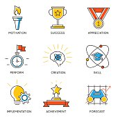 Set of icons related to career progress - 1