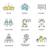 Set of icons related to corporate management - part 2