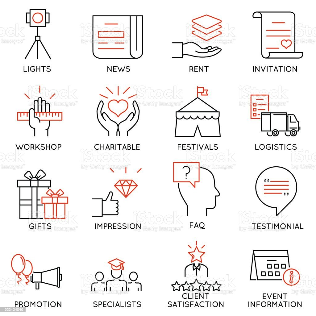 Set of icons related to event management - part 39vectorkunst illustratie