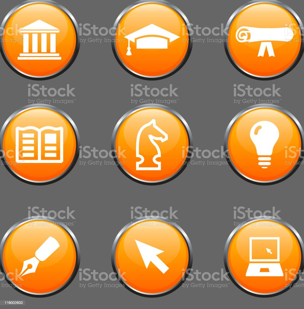Set of icons representing education royalty-free set of icons representing education stock vector art & more images of architectural column