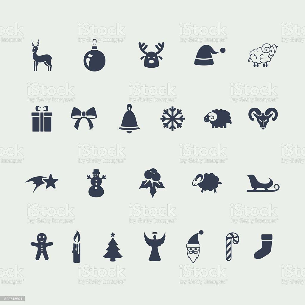 Set of icons vector art illustration