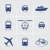 set of icons vehicles