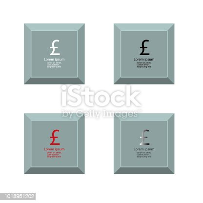 Set Of Icons With Pound Currency Symbol Stock Vector Art More