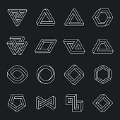 Set of impossible shapes