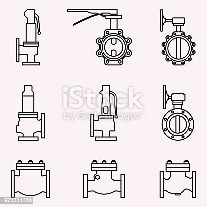 Vector illustration of machine equipment
