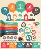 Set of infographic business concept elements