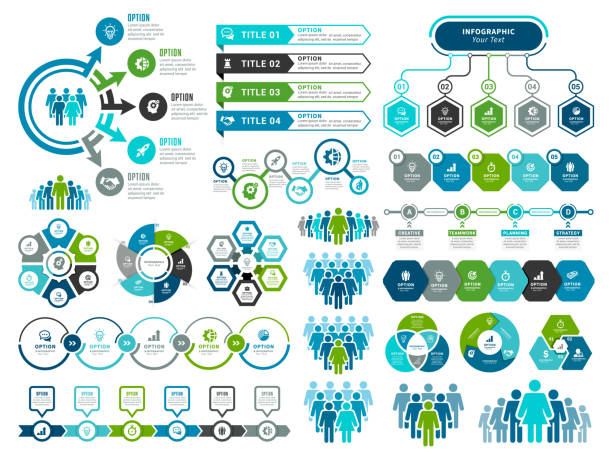 stockillustraties, clipart, cartoons en iconen met set infographic-elementen - infographic