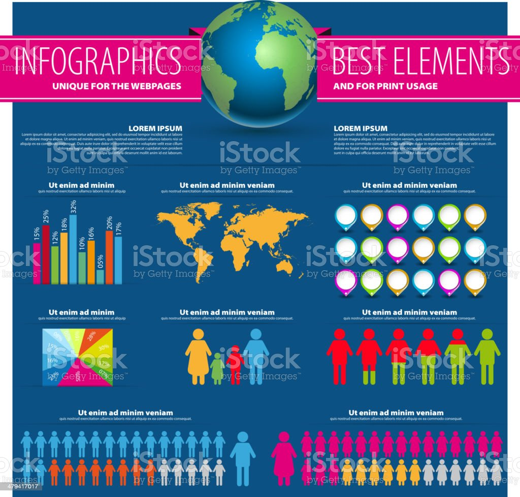 Set of infographic elements world map and information graphics stock set of infographic elements world map and information graphics royalty free stock vector art gumiabroncs Gallery